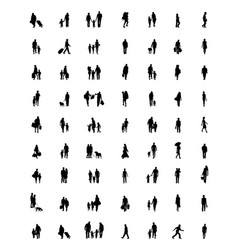 Silhouettes families vector