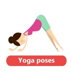 Simple yoga poses for pregnant vector