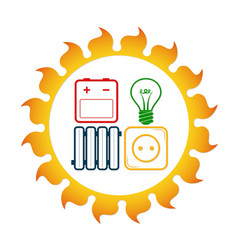 Solar energy for homes vector