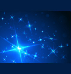 stars abstract blue background vector image