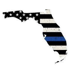 State florida police support flag vector