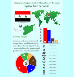 syrian arab republic infographics for vector image