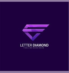 template letter e diamond concept vector image