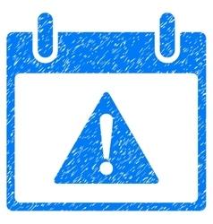 Warning Calendar Day Grainy Texture Icon vector