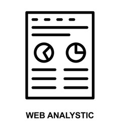 Web analystic vector