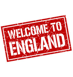 welcome to england stamp vector image