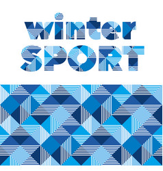 winter sport abstract seamless pattern vector image
