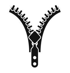 Zipper element icon simple style vector