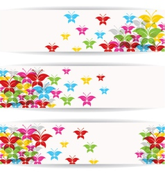 Abstract colorful butterfly design for website vector image