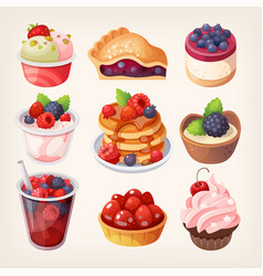 forest fruit desserts vector image