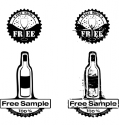 free drink rubber stamp vector image vector image