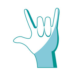 hand man rock n roll gesture music icon vector image
