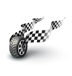Sport racing wheel with vector image vector image