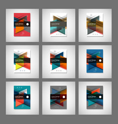 abstract business flyer design template in vector image vector image