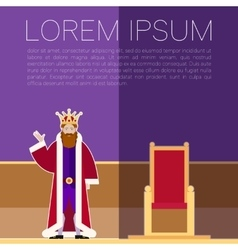 King square banner vector