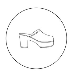 klogs icon in outline style isolated on white vector image vector image