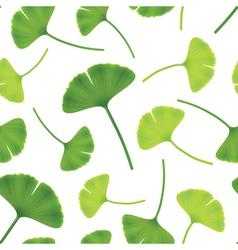 leaves of ginkgo bilboa seamless vector image vector image