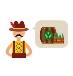 Oktoberfest german man vector image vector image