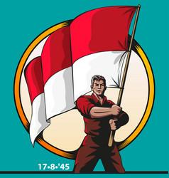 patriot vector image