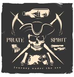 Pirates Print Or Poster vector image vector image