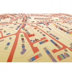 streetmap perspective vector image vector image