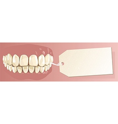Teeth and label vector image vector image