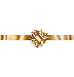 Beautiful golden shiny bow vector image vector image