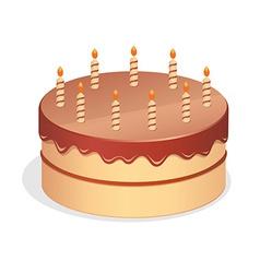 Cute cartoon birthday cake vector image