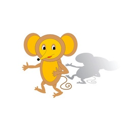 Funny cartoon mouse vector image