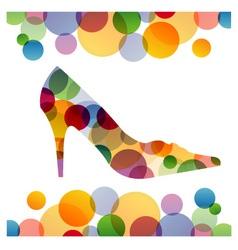Shoe background vector