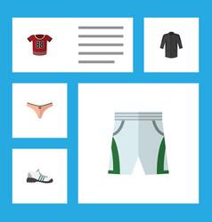 Flat icon dress set of t-shirt lingerie trunks vector