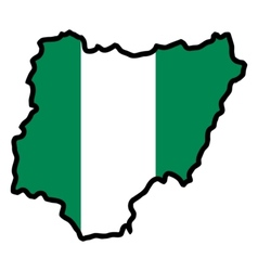 Map in colors of Nigeria vector image