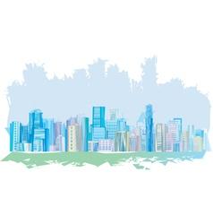 pastel city vector image vector image