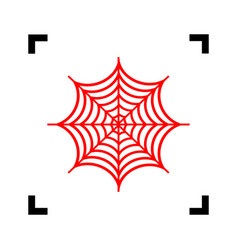 spider on web red icon vector image vector image