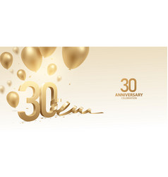 30th anniversary celebration background vector image