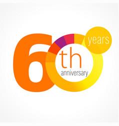 60 anniversary chart logo vector