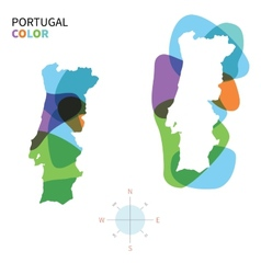 Abstract color map portugal vector