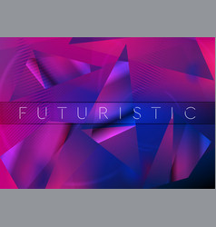 Abstract concept geometric low poly retro vector