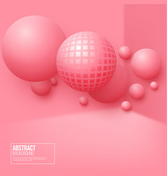 Abstract floating spheres background vector