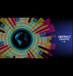 abstract technology and science world colorful vector image