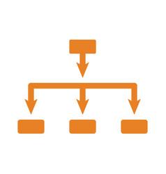 Architecture hierarchy icon orange vector