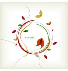 Autumn floral minimal background vector image