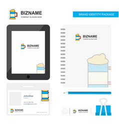 beer glass business logo tab app diary pvc vector image