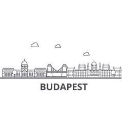 Budapest architecture line skyline vector