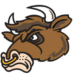 bull head logo mascot vector image