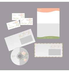 Business card and envelope vector