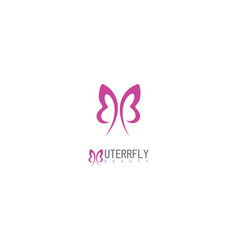 butterfly beauty logo vector image