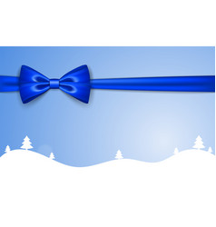 christmas holiday background ribbon bow winter vector image