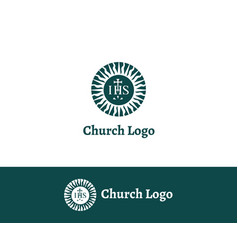 church logo christian symbols vector image