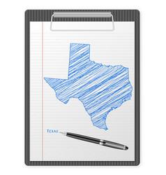 clipboard texas map vector image
